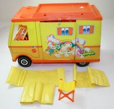 Vintage 1970 Barbie Country Camper with 3 Sleeping Bags and Folding Stool