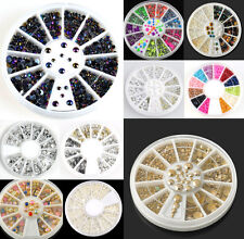 3D Beauty Rhinestone Resin Acrylic Nail Art Tips Decoration Manicure Wheel JT13