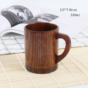 1X Wooden Cup Bear Mug Coffee Milk Juice Water Tea Cup Natural Wood Cups Durable