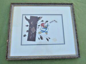 Woody The Woodpecker CEL Serigraph Certified 1991 Walter Lantz Productions NR!
