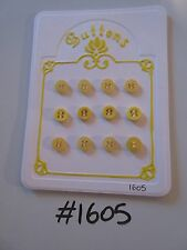 #1605 Lot of 12 Yellow Buttons