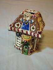 Heather Goldminc Clayworks Small Gingerbread Cottage in Box Dated 2002