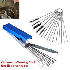 15Pcs Carburetor Carbon Deposit Jet Cleaning Needles Brushes Tools Kits Latest