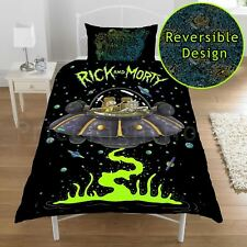 RICK AND MORTY SINGLE DUVET COVER BEDDING SET NEW BEDROOM