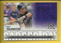 Troy Tulowitzki 2012 Topps Career Day Insert Card # CD-24 Rockies Yankees MLB