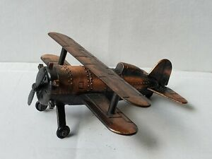 Vintage, small, metal biplane pencil sharpener