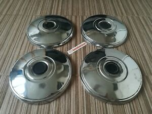 Chrome Wheel Caps for car LADA 2106 2101 2103 2102, set 4pc. Made in USSR