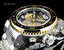 NEW Invicta 52mm PRO DIVER Quartz Chronograph Gold Tone Silver Bracelet Watch