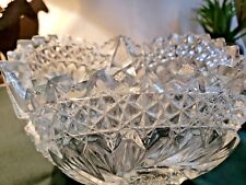 Heavy Lead Cut Crystal Pinwheel Design Scallopped Edge Bowl #C1600-P