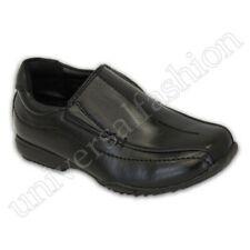 Niño Escuela Zapatos Negros Niños Bebés sin Cordones Formal Elegante Boda Nuevo