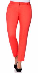 Y59 Sheego Damen Hose Chino 812177 Stretch koralle rot Kurzgröße 25