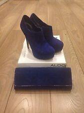 Womens ALDO Electric Blue Shoe Size 6 & Clutch Bag Set