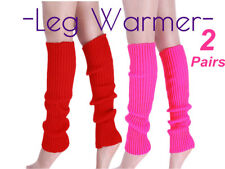 2 Pairs LEG WARMERS Legging Socks Knitted Women Costume Dance Disco 80s Party ZX