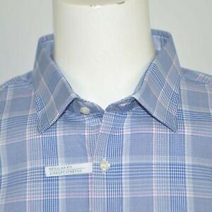 NWT MICHAEL KORS Regular Fit Airsoft Stretch Cotton Dress Shirt Sz 18 34/35 XXL