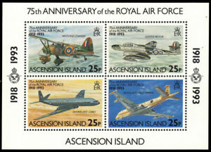 ASCENSION 561 - Royal Air Force 75th Anniversary  S/S (pf22128)