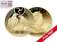 2017 Isle of Man Raven and Falcon £1 in Wallet Decimal Coin (AH38)