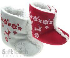 Soft Touch chaussures bébé souple fourrée forme botte blanc ou rouge 0 à 12 mois