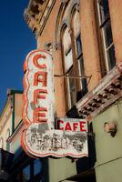 Abandoned Cafe Sign Main Street America USA Vintage Photo Art Print Poster 12x18