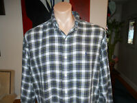 VTG POLO Ralph Lauren Mens M BLAKE COTTON Shirt PONY Blue Gordon Dress Plaid L/S