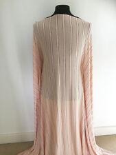 Pink/Black Striped Devore 4 Way Stretch Jersey Dressmaking Fabric