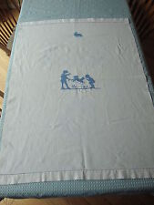 Vintage Embroidered Children's Bath Towel Crib Cover 31 x 42