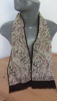 Vintage Designer wool style Neck Head Scarf Retro burgundy floral 60s 70s S422