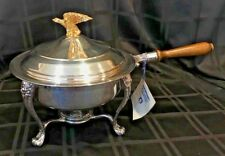 F.B. Rogers Silver-plate Chafing/Warmer Dish Eagle Finial Alcohol Burner