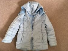 Girls, George, Pale Blue, Padded, Detachable Hood, Coat. Age 6-7yrs