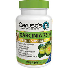 CARUSO'S SUPER GARCINIA CAMBOGIA 120 TABLETS 60% HCA 7500MG APPETITE WEIGHT LOSS