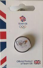 OFFICIAL TEAM GB RIO 2016 MASCOT BASKETBALL PICTOGRAM PIN
