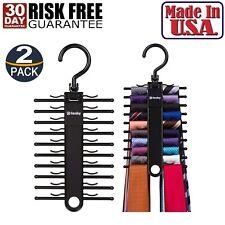 2 Pack Mens Neck Tie Racks Organizer Holder Rotating Hanger Non Slip Hook New