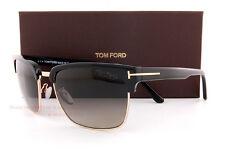 Brand New Tom Ford Sunglasses TF 0367 367 01D Black/Gray Polarized for Men