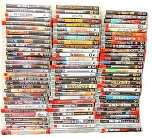 PLAYSTATION 3 PS3 GAMES HUGE LOT NEW/USED YOU PICK EM GAMES CLEANED/TESTED
