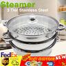 3 tier steamer cooker pot set Stainless Steel Kitchen cookware 28cm Hot Pot TOP!
