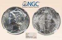 1945-P 10C NGC MS66 Virtual FB! Mercury Dime #002 - RicksCafeAmerican.com