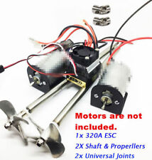 RC Double 550 Motor Mount & Universal Joint & 320A ESC &Shaft & Metal Properller