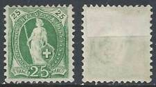 Schweiz Switzerland Helvetia 1891 25c (*) MNG