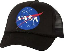 NASA insignia retro logo Hat adjustable snapback Mesh Cap science space fan gift
