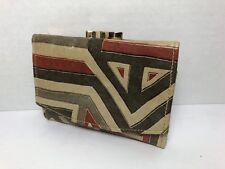 Vintage Leatherette Wallet -- Two Dollar Bill Pouches and Coin Purse!!