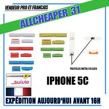 Bouton power volume vibreur Iphone 5C  pastille métal collé IPHONE 5C 5 couleurs