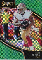 2018 Panini Select Field Level Green Prizm Matt Breida 1/5! 🔥🔥 #215 49ers