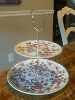 Old Foley James Kent Chinese Rose 2-Tier Serving Plate