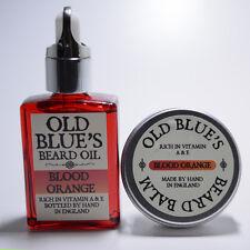 Old Blue's Beard Oil & Balm Blood Orange 100% Natural Vitamin E 30ml of each