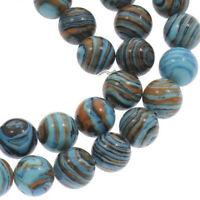 45 Edelsteine Achat Perlen 8mm Natur Achatsteine Schmucksteine A Grade G771#3