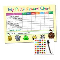 Kids Potty / Toilet Training Reward Chart - Childrens Sticker Star - Reusable