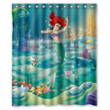 Disney Ariel The Little Mermaid Custom Print Shower Curtain Bathroom Waterproof