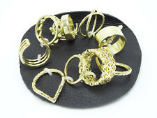 New 12 Piece Free People Mega Mix Gold Ring Set by Free People #R1239