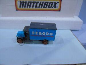 MATCHBOX YESTERYEAR PRE PRODUCTION LABEL MACK BLUE BODY FERODO EX EMPLOYEE