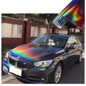 Rainbow Neo Chrome Holographic Car Vinyl Wrap DIY Sticker Decal Air Bubble Free