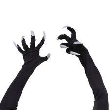 Women Witch Gloves Long White Glitter Fingernails Halloween Costume Cosplay  BF